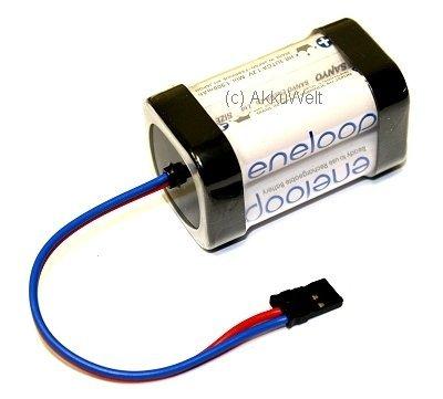 Gopacks Panasonic Eneloop Empfängerakku 4er-Würfel mit Graupner-Stecker Accu Batterie Battery Bateria Akkubatterie