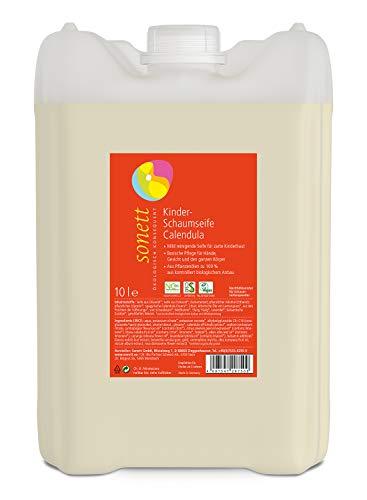 Kinder-Schaumseife Calendula: Mild reinigende Seife für zarte Kinderhaut, 10 l