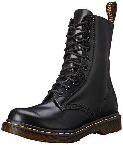 Dr. Martens Women's 1490 W 10 Eye Boot,Black Smooth,5 UK/7 M US
