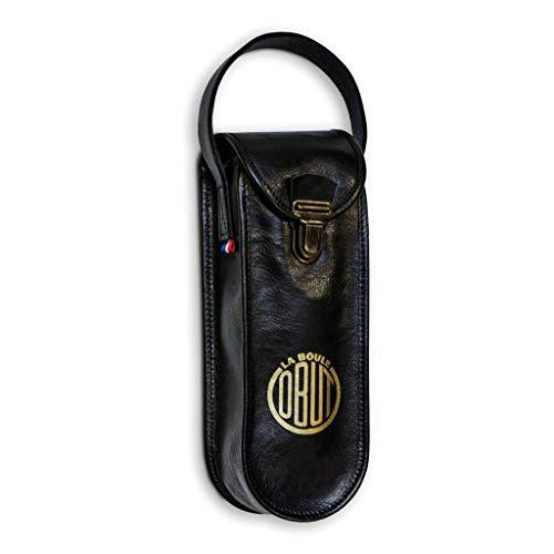 Obut Vintage Leder Tasche Schwarz