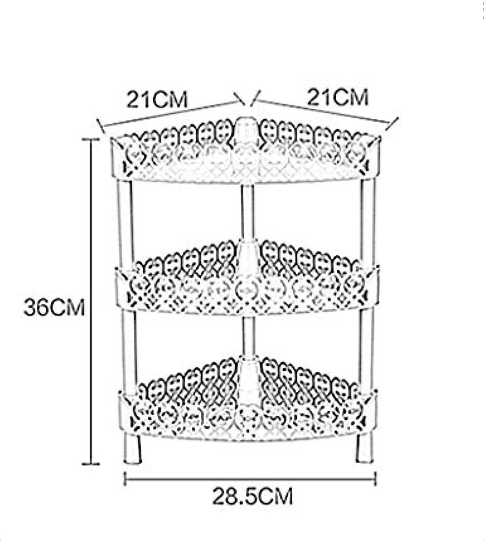 XQY Hochwertiges Küchen-Badezimmer-Regal, Badezimmer-Lagerregal Multi-Funktions-dreistufiges Regal-Badezimmer-Küchen-Boden - Art Lagerregal-Vollenden-Gestell, Das Qualitt, Tuch-Zahnstange sichert