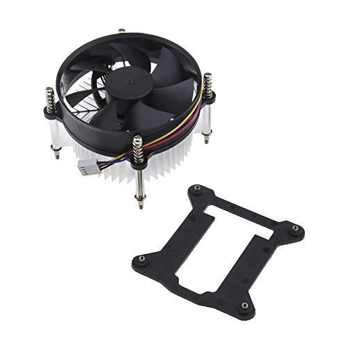 Ventilador silencioso para CPU con disipador de calor, compatible con Intel I3 I5 LGA 1150 1155 1156-3W 2200 RPM