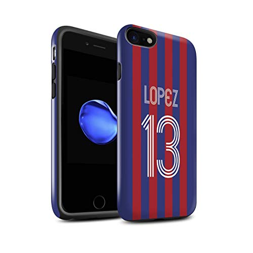 Stuff4 Telefoonhoesje/Cover/Skin/IP-3DTBG / Aangepaste Euro Football Club Shirt Kit Collectie Apple iPhone SE 2020 Blauwe Carmine
