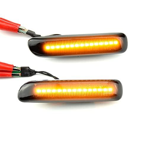 1 par de marcadores Laterales LED dinámicos, Intermitentes, Intermitentes, Intermitentes, compatibles con BMW E46 Coupe Compact Cabriolet Touring Saloon (Color: Amarillo) útil