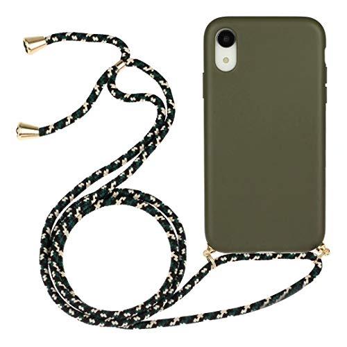 iPhone 7 Plus, iPhone 8 Plus telefoonhoesje met ketting koordhouder snoep helder transparant zacht TPU cover met schouder hals Lanyard riem beschermhoesje met voor iPhone 7 Plus, 8 Plus iPhone 7 Plus, iPhone 8 Plus Grijs