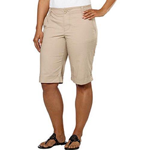 DKNY Jeans Women's Bermuda Walking Shorts (4, Khaki)