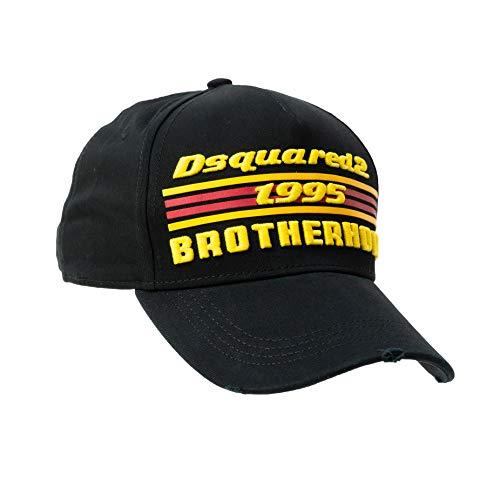 DSQUARED2 D2 Original Baseball Cap, Mütze 'Brotherhood 1995' schwarz