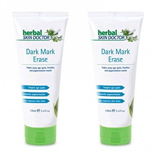 Pack of 2 Herbal Skin Doctor Dark Mark Erase Fades Away Age Spots and Freckles, Smoothes Pigmentation And Skin Cream 100ml