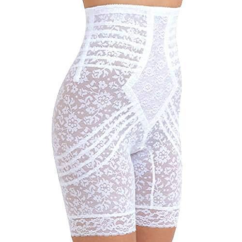 Rago Women's Hi Waist Long Leg Shaper, White, Small (26)