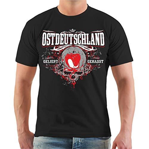 Männer und Herren T-Shirt Ostdeutschland geliebt gehasst (mit Rückendruck) Größe S - 8XL