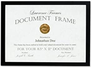 Lawrence Frames Black Wood Certificate Picture Frame, Gallery Collection, 8-1/2 by 11-Inch