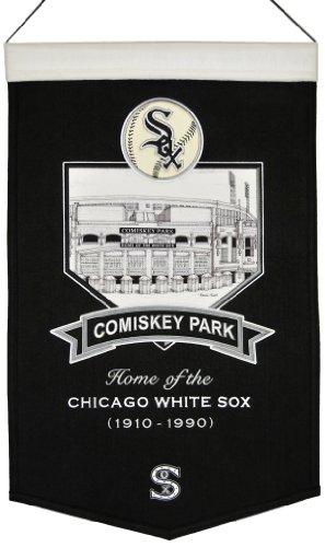 Winning Streak MLB Baseball Chicago White Sox Stadium Series Ballpark Comiskey Park Wimpel Pennant Wool Blend Banner 58x38