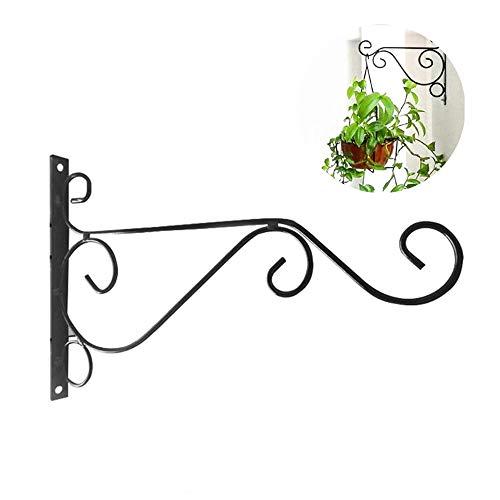 GU YONG TAO 2er-Pack Hanging Plants Bracket - 11,8 '' Wandhalterung Pflanzerhaken, Blumentopf Vogelhäuschen für Outdoor-Innenzaun Schraubbefestigung gegen Türarmbeschläge