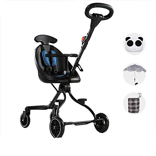 Best Bargain Stroller - Lightweight Folding High Landscape Stroller Two-Way Seat, Seat Rotation, One...