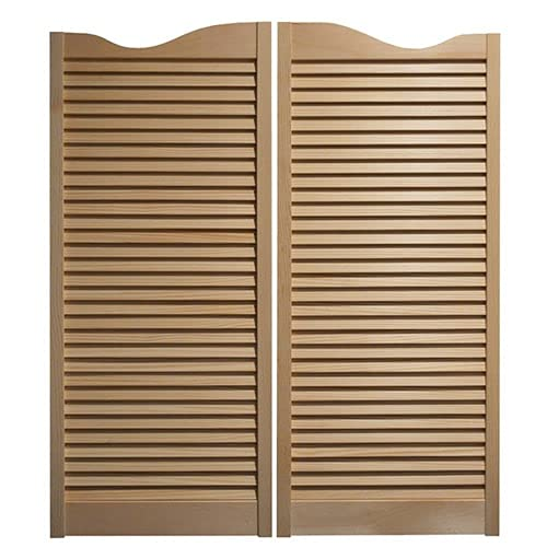 Cafe Doors   Saloon Doors: Made from Sturdy Pine Wood- Includes Hinges - Saloon Swing Swinging Door - See our Store for More Door Listings! (36