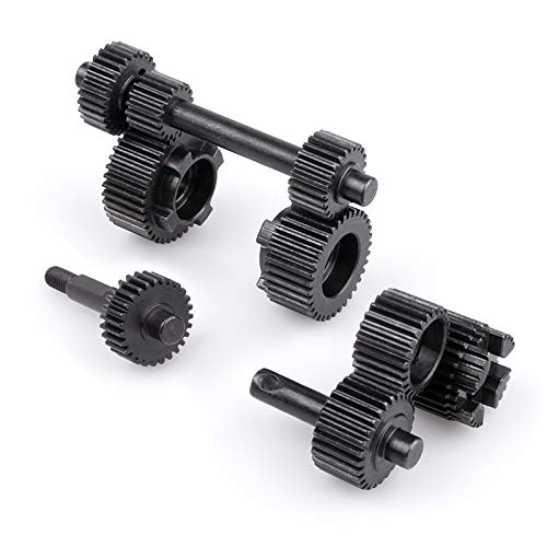 KYX Racing Hardened Steel Transmission Gear Set Gearbox Gear Set Upgrades Accessories for RC Crawler Car Axial SCX10 III AXI03007