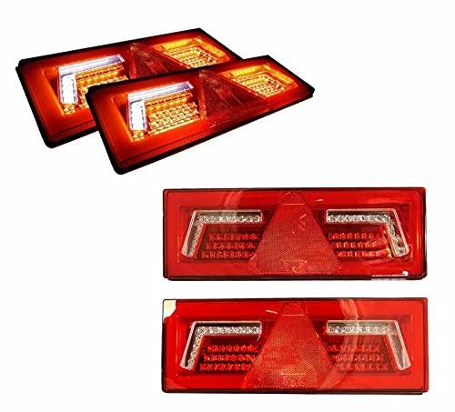 Par de luces traseras de neón de 12/24 V, 96 LED, indicador sequencial E9 de alta calidad