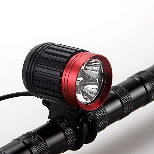 Glowjoy LED Frontlichter,10000LM wiederaufladbares Fahrrad 3x CREE XML T6 LED Fahrradlicht Vorne Batterie Fahrradlampe Fahrrad Beleuchtung für Outdoor Camping Wandern