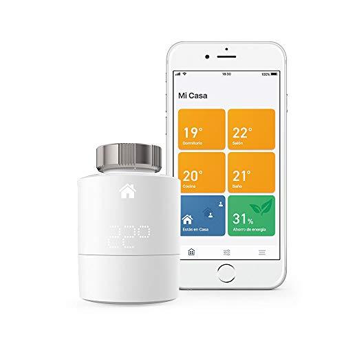 Cabezales Termostáticos Inteligentes Kit de Inicio V3+ Control inteligente de calefacción, trabaja con Amazon Alexa, Apple HomeKit, Asistente de Google