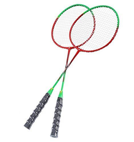 xiaoxioaguo Raqueta de bádminton profesional ofensiva de una sola raqueta deportiva 2 piezas