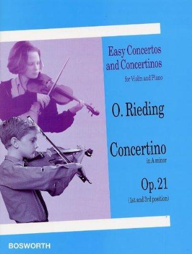 Rieding: Concertino in a Op. 21 - Violine/Klavier