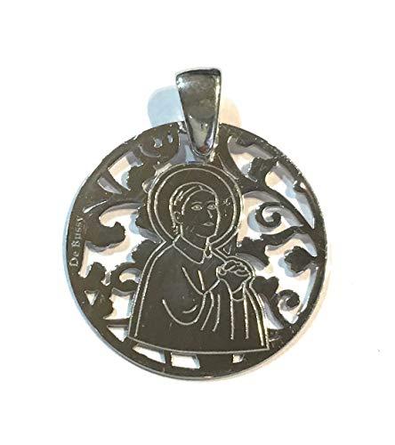 Medalla Santa Gema en Plata de Ley