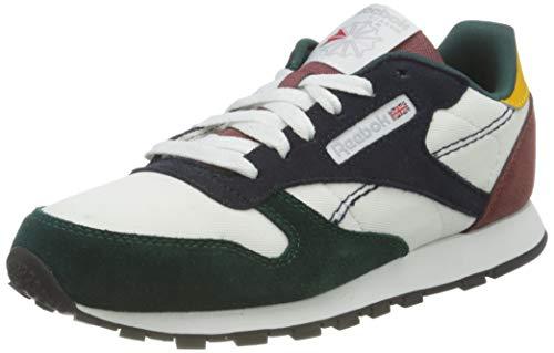 Reebok Classic Leather, Sneaker, Footwear White/Vector Navy/Forest Green, 36.5 EU