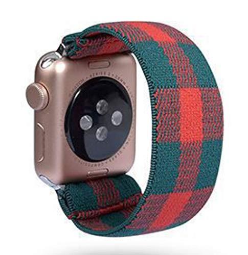 DLCYMY Scrunchie Correa for Reloj de la Banda de Apple 40mm 44mm elástico de Las Mujeres Correa 42mm 38mm Pulsera de la muñeca for IWATCH Serie 5 4 3 2 1 (Band Color : 130, Band Width : 38mm 40mm)