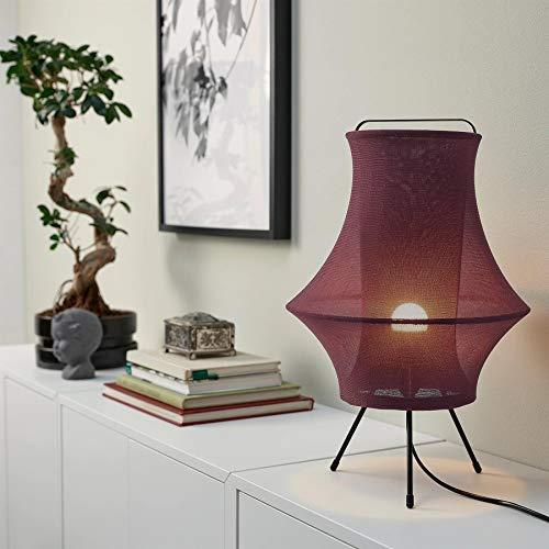 IKEA FYXNAS Lámpara de mesa, 44 cm [Rojo oscuro]