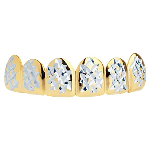 Grillz Gold One Size fits All - Diamond Cut II - Top