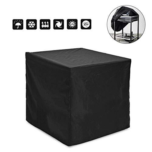 Xiaoqingmiao Housse de table carrée pour meubles de jardin, barbecues, housse imperméable pour meubles de plein air