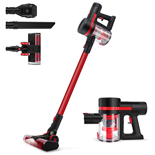OUTON Cordless Vacuum Cleaner 23KPa Strong Suction 380W Brushless Motor, Stick Handheld Lightweight Vac with HEPA Filters & Upgraded LED Floor Head for Home Hard Floor Carpet Car Pet Sofa (Black)
