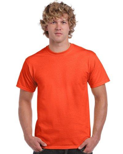 Gildan Herren Heavy Cotton Tee T-Shirt, Orange, L