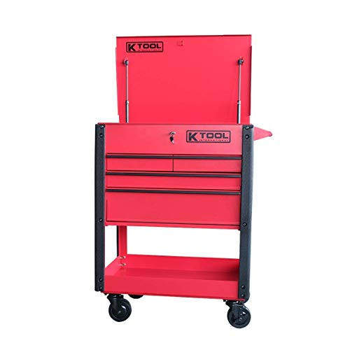 K Tool International - Professional Heavy Duty Tool Cart with Locking-Dra (75146A)