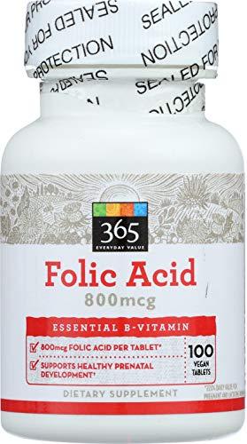 365 by WFM, Folic Acid 800MCG, 100 Tablets