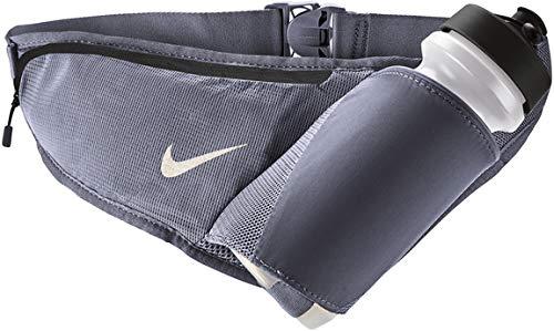 Nike Large Bottle Belt with Sipper 22 OZ (Ashen Slate/Gridiron/Silver)