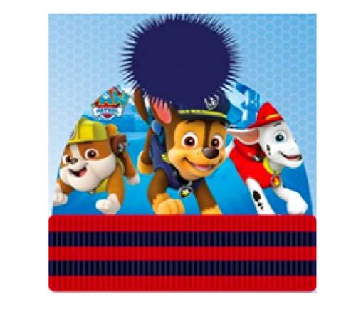 Paw Patrol Hund Mütze Hut Bommelmütze + Sticker-von-Kids4shop