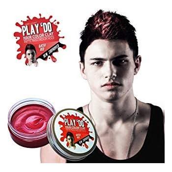 Play 'Do Temporary Hair Color, Hair Wax, Hair Clay, Mens Grooming, Red hair dye(1.8 ounces)