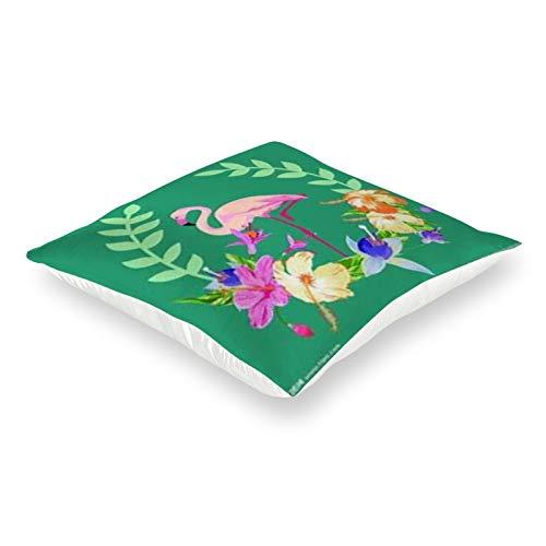 DKE&YMQ Funda de almohada de satén con forma cuadrada, cuerpo de agua, naturaleza, organismo, vegetación, pétalo, verde, azul, producto de hierba acuática