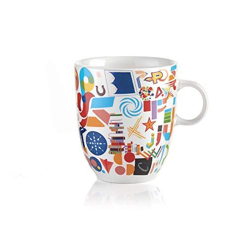 Guzzini - Taza de Porcelana, diseño de Gotas, Multicolor, 8,5 cm