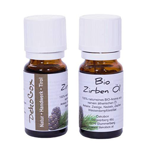 Bio Zirbenöl - Doppelpackung - 2X 10ml - 100% naturrein - höchste Qualität durch Destillation