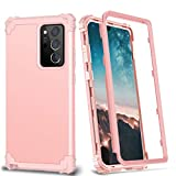XQ-HD Samsung Galaxy Note 20 Ultra Silicone Case, Heavy Duty Rugged 3 in 1 Hybrid Hard PC & Soft Rubber, Galaxy Note 20 Ultra case for Women Men, Shockproof Full-Body case for Samsung Note (Rose gold)