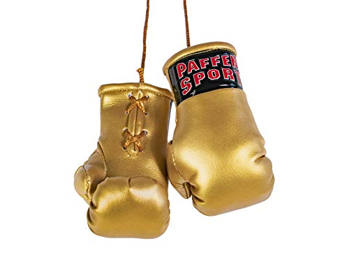 Paffen Sport «Colour» Mini Boxhandschuhe, Anhänger fürs Auto, Gold