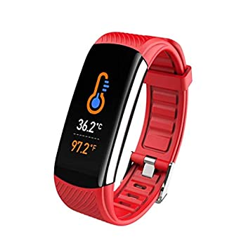 OUTAD Fitness Activity Tracker Waterproof Watch with Temperature Heart Rate Blood Pressure Oxygen Sleep Monitor Step Calorie Counter Pedometer Smart Bracelet Wristband for Women Men Kids