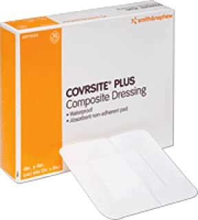 """Smith and Nephew Inc Covrsite Plus Waterproof Composite Dressing 4"""" x 4"""", Adhesive, Extensible, Conformable (Box of 10 Each) by Smith & Nephew Corp"""