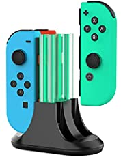 Laddningsdocka för Nintendo Switch Joy-Con, 4-i-1 Joycon Controller-laddare station med LED-indikation och typ C-kabel