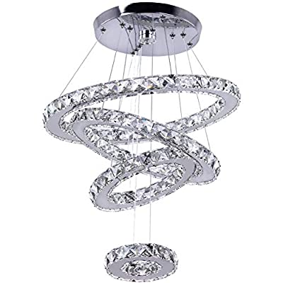 Modern Crystal Chandeliers LED Chandelier Pendant Lights Chandelier Rings Pendant Light