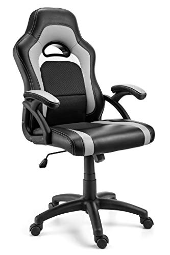 Comfortable Office Chair with Lumbar Support | Ergonomic Double Cushioned Desk Chair for Gaming, Desk Tasks & More | Equipped with Smooth Rolling Swivel Caster Wheels