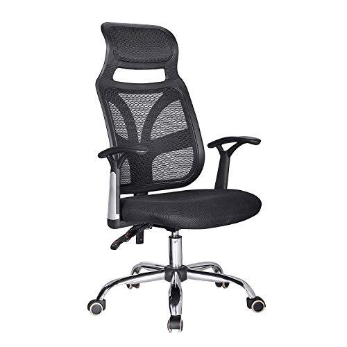 OaLt-t Silla de oficina, silla giratoria for computadora, respaldo ergonómico, cintura alta, silla de escritorio, silla de ocio for el hogar, ascensor, altura ajustable, asiento inclinable con tensión