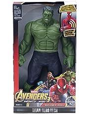YSYSPUJ Actiefiguren Spiderman Hulk Action Figure Black Panther Thanos Captain America Thor Iron 30cm Super Heroes Pop Model (Kleur: Hulk GEEN DOOS)